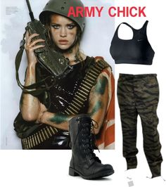 halloween costume army chick by gabrielaxoxoxo on polyvore - Halloween Army Costume