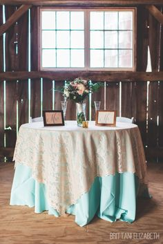 Sweetheart Table | Mint and Coral Wedding | Mr. & Mrs. | Barn Wedding | Brittani Elizabeth Photography