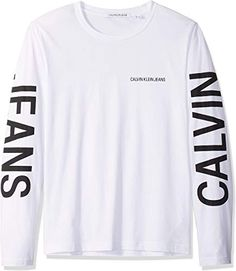 online shopping for Calvin Klein Men's Long Sleeve Logo T-Shirt from top store. See new offer for Calvin Klein Men's Long Sleeve Logo T-Shirt Clothing Logo, Mens Clothing Styles, Drawing Clothes, Calvin Klein Men, Swag Outfits, Boys T Shirts, Hoodie Jacket, Mens Xl, Tshirts Online