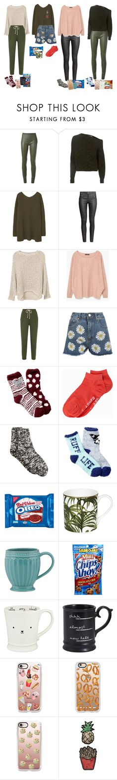 """""""SNACK TIME!!!"""" by audrey-balt on Polyvore featuring Acne Studios, T By Alexander Wang, MANGO, H&M, LnA, WearAll, Free Press, Frank Dandy, Hue and House of Hackney"""
