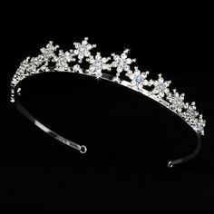 Our Light Blue Silver Plated Snowflake Winter Wedding Tiara will be the perfect finishing touch to your Winter Wonderland wedding or party. Headpiece Wedding, Bridal Tiara, Prom Jewelry, Wedding Jewelry, Jewellery, Wedding Rings, Winter Wedding Receptions, Winter Weddings, Reception Ideas