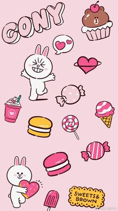 Paris Wallpaper, Cartoon Wallpaper Iphone, Lines Wallpaper, Cute Wallpaper For Phone, Kawaii Wallpaper, Wallpaper Backgrounds, Friends Image, Line Friends, Line Cony