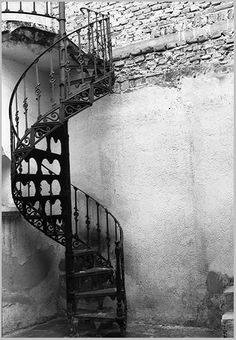 My favorite thing in our house growing up was a spiral staircase to my bedroom ! Red Shutters, Building Stairs, Stair Detail, Entry Hallway, Attic Remodel, Hiding Places, Stairway To Heaven, Secret Places, Stairways