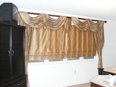 United Curtain Co Jewel Austrian Valance In Natural For