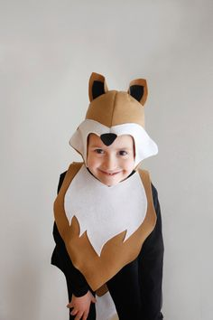 Fox PATTERN DIY costume sewing for boy instant by ImaginaryTail