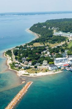 America's Most Beautiful Island is Mackinac Island, Michigan. Believe it or not, no cars are allowed on the island!