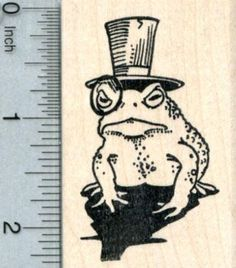 Dapper Frog Rubber Stamp, in Top Hat with Monocle Wood Mounted Lila Tattoos, Frog Tattoos, Dope Tattoos, Body Art Tattoos, Top Hat Drawing, Dou Dou, Unique Tattoo Designs, Frog Art, Cute Frogs