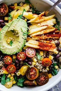 Chili Mango Zesty Quinoa Salad! Gluten free and vegetarian.