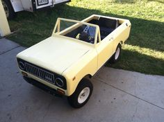 Scout II built on a lawn tractor frame.
