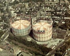 """The Maspeth Gas Tanks.  """"Gas Heats Best"""". Queens Nyc, Memories, Airports, History, Tanks, Travel, York, Google Search, Memoirs"""