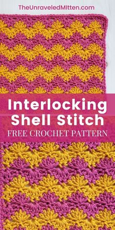 This unique crochet stitch had flat edges and a fun ripple pattern suitable for almost any crochet project. Crochet Squares Afghan, Crochet Blocks, Granny Squares, Crochet Sampler Afghan Pattern, Granny Granny, Crochet Stitches Patterns, Unique Crochet Stitches, Crochet Symbols, Crochet Edgings