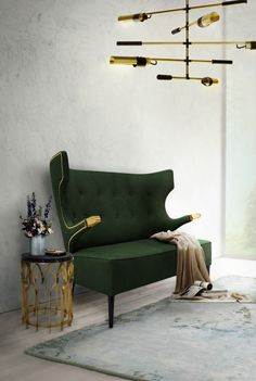 Samt sofa  Samt-Sofa Goldfinger (3-Sitzer) | Jonathan adler, Soffor och Design