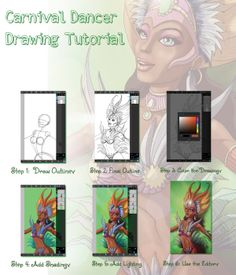 A quick guide on how to draw a carnival scene using PicsArt Drawing tools.
