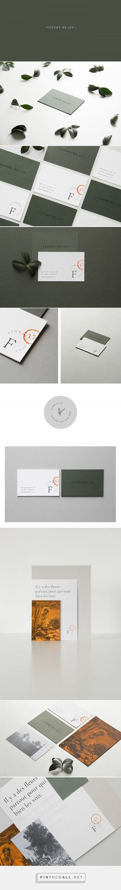 FLEUR DE LIS Flower Shop Branding by Anastasia Ko | Fivestar Branding Agency – Design and Branding Agency & Curated Inspiration Gallery