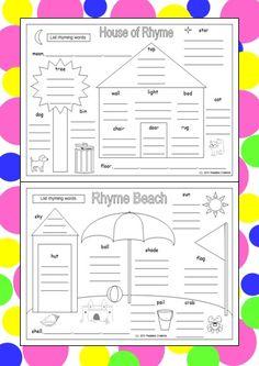 Rhyming Word Fun Lists ... Good rhymers make good readers! Rhyming is fun and educational.