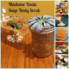 Homemade Body Scrub: Sugar and Sage. Made with all natural ingredients that are found in your pantry, create this refreshing body scrub in minutes.