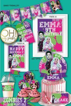 2 Birthday, Zombie Birthday Parties, Girl Birthday Themes, Disney Birthday, Birthday Ideas, Zombie Disney, Zombie Party Decorations, Balloon Decorations Party, Peppa Pig