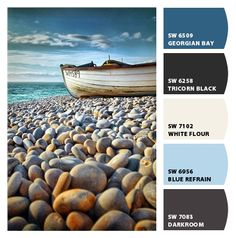 nautical color pallet, cape cod inspired type colors