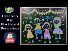 Parent Teacher Meeting, Kids Chalkboard, Activities For Kids, Crafts For Kids, Construction Paper Crafts, Classroom Board, Happy Children's Day, Board Decoration, Classroom Language