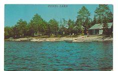 Ponto Lake Minnesota (Near Backus) 1965 Postcard
