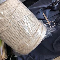 4 mm Macrame cord macrame rope macrame supplies macrame | Etsy Arm Knitting Yarn, Giant Knitting, Wool Yarn, Merino Wool, Big Yarn, Macrame Supplies, Super Chunky Yarn, Chunky Scarves, Chunky Blanket
