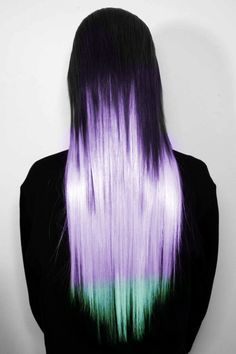 Simple hair Idea - bleach half, dye roots black, change tips when the fade. Could be lazy and still have it look cool.