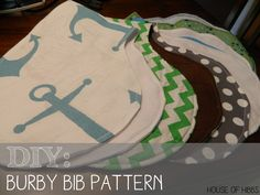 DIY Aden + Anais Burpy Bibs: The best burp cloth/bib pattern | House of Hibbs