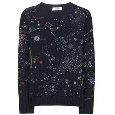 Valentino - Embellished wool and cashmere sweater - Adorned with an array of beads and embroidery mapping out constellations and planets, this intergalactic sweater from Valentino is an exquisite option for staying chic and warm this season. The celestial design is a stunning way to bring a touch of luxe to any bottom half - we're thinking leather leggings or a printed skirt. seen @ www.mytheresa.com
