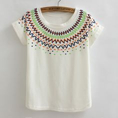 HOT 2015 summer style Loose painted plus size t shirts for women Flag Vintage printed lady casual t shirt 16 designs tops CH322-in T-Shirts from Women's Clothing & Accessories on Aliexpress.com | Alibaba Group