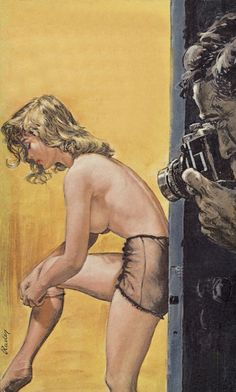 """- inspiration for SexyMuse.com - Paul Rader, """"Over Exposed"""". I love pulp fiction art"""