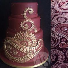 Indian Print cake! =o) Bolo com estampa indiana! =o)