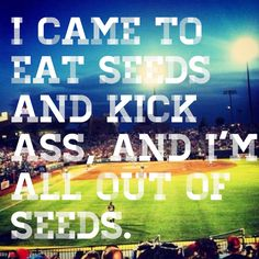 baseball fan quote here to win and eat sunflower seeds - Google Search