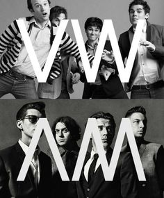 LOVE THIS!!! My two favourite bands - and their initials are mirror images!! Why does this thrill me so much??