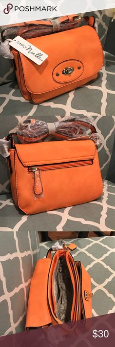 🎀SALE🎀Simply noelle crossbody NWT Beautiful orange crossbody with so much room for a small bag! NWT simply noelle Bags Crossbody Bags