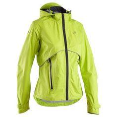 Running_Bekleidung Running (KALENJI) - Laufjacke Regenjacke Kiprun Protect Damen gelb KALENJI - Laufbekleidung