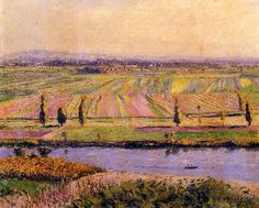 Gustave Caillebotte - Gennevilliers Plain, Seen from the slopes of Argenteuil