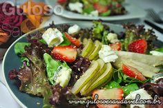 Receita de Salada de Folhas Verdes com Pera