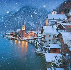 Winter in Hallstatt, Austrial                                                                                                                                                                                 More