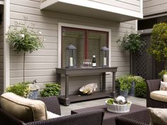 ** traditional patio by Candace Cavanaugh Interiors