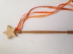 This wand is made from a variety of hardwood cutoffs leftover from our other projects. Its perfect for complimenting your childs imagination