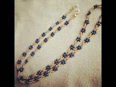 Beaded Jewellery, Jewelry Necklaces, Beaded Necklace, Beaded Bracelets, Beading Patterns Free, Beading Tutorials, Seed Bead Jewelry, Seed Beads, Tear