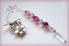 Crazy for Pinks Swarovski Necklace by DancingRainbows, $38.00 USD