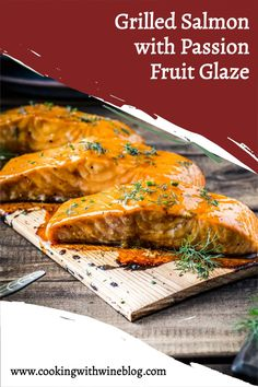 With all the flavors of Summer, this Grilled Salmon with Passion Fruit Glaze has a delicious sweet and tart glaze. Seafood Recipes, Vegetarian Recipes, Dinner Recipes, Healthy Recipes, Best Grilled Salmon Recipe, Healthiest Seafood, Seafood Dinner, Glaze Recipe, Ground Beef Recipes
