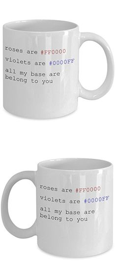 Funny Computer Nerd Mug - Quality Ceramic Gift Coffee Cup - Valentine's Gift with Hex Codes - Great Present for Geek, Programmer, Coder, Boyfriend, Girlfriend-White