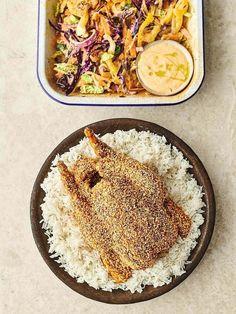 Sesame roast chicken   Jamie Oliver recipes Whole Roasted Chicken, Sesame Chicken, Roast Dinner, Sunday Roast, Tofu Nutrition, Roast Chicken Recipes, Chicken Meals, Turkey Recipes, Cooking