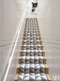 Rug runner on stairs