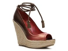 More ombre!  Sergio Rossi Ombre Wedge Pump