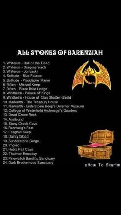Stones Of Barenziah Map : stones, barenziah, Skyrim, Trophies, Ideas, Skyrim,, Trophies,, Elder, Scrolls