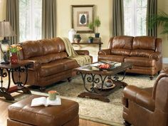 Brown Leather Sofa Decorating Ideas Iinterior Design For A Living Room With A Fireplace Decorating