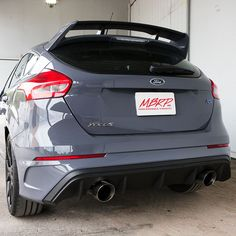 """Same Business Day Shipping MBRP Aluminized 2016-2017 Ford Focus RS 3"""" Cat Back Dual Outlet Exhaust S4203AL"""